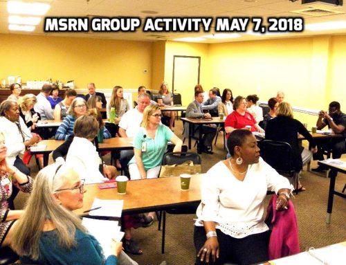 May 7, 2018 MSRN Member Meeting
